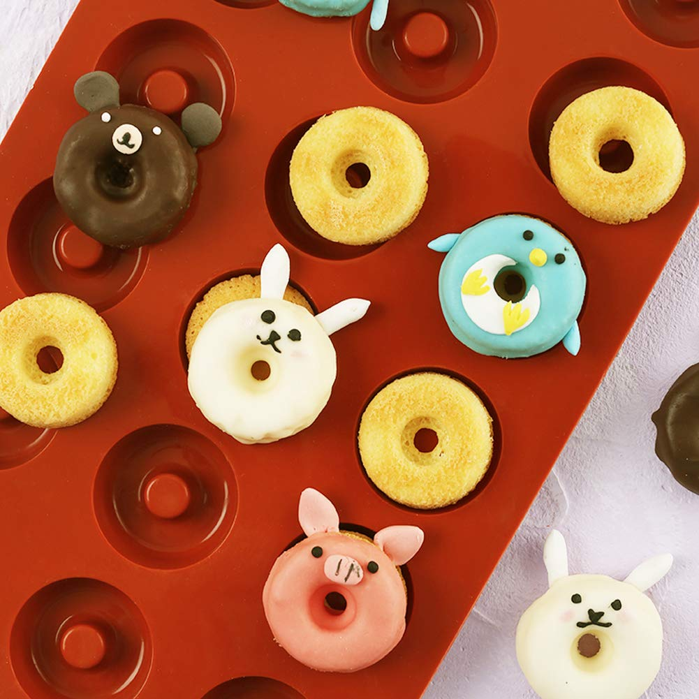PERNY 18-Cavity Mini Donut Pan, 1.5 Inch Silicone Donut Pan, 2 Pack by PERNY (Image #8)