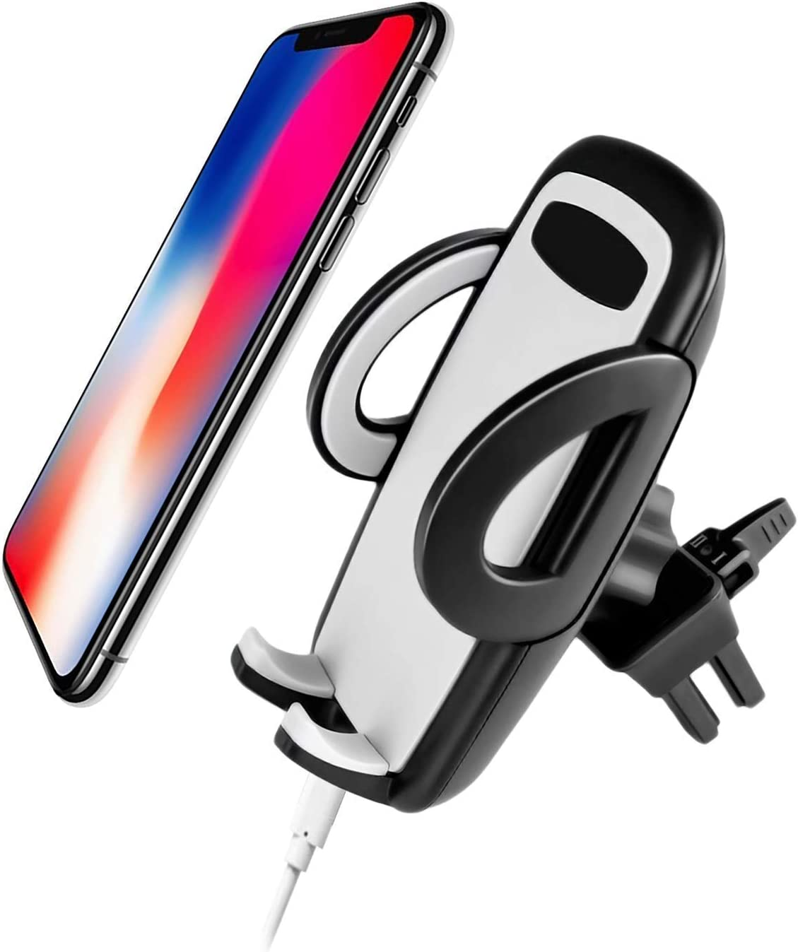 Android Easy One Touch Release Universal Air Vent Car Mount Cradle Clip Holder Smartphone iPhone /& Samsung Galaxy Vertical Horizontal Vent Clip Design w//Easy Phone Release