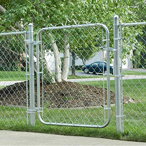 MTB Galvanized Chain Link Fence Gates 4'x4',Wire Garden Fence Gate,Pack of 2