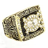HTEGAE Mens The Golden 1980 Year Of Auckland Championship Rings,Size 13