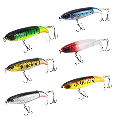 Whopper Plopper Floating Fishing Lures Rotating Tail Crankbaits For Carp Bass