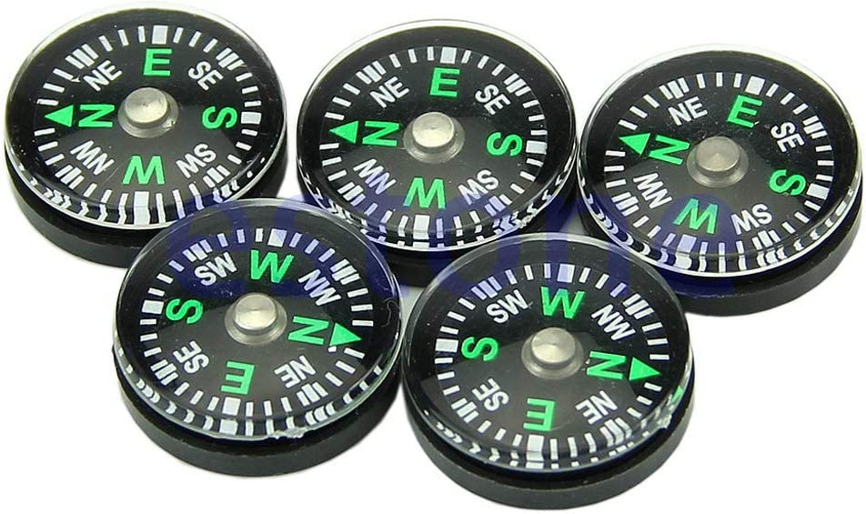 5Pcs 20mm Button Shape Small Mini Survival Compasses for Outdoor Camping Hiking