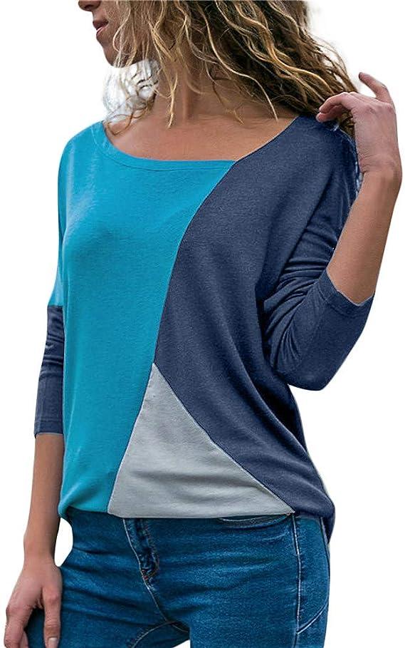 Camisetas Mujer Verano Ronamick Hermoso Blusa Niña Manga Larga Tops Hermoso Camisa Negra (Cielo azul,M): Amazon.es: Iluminación