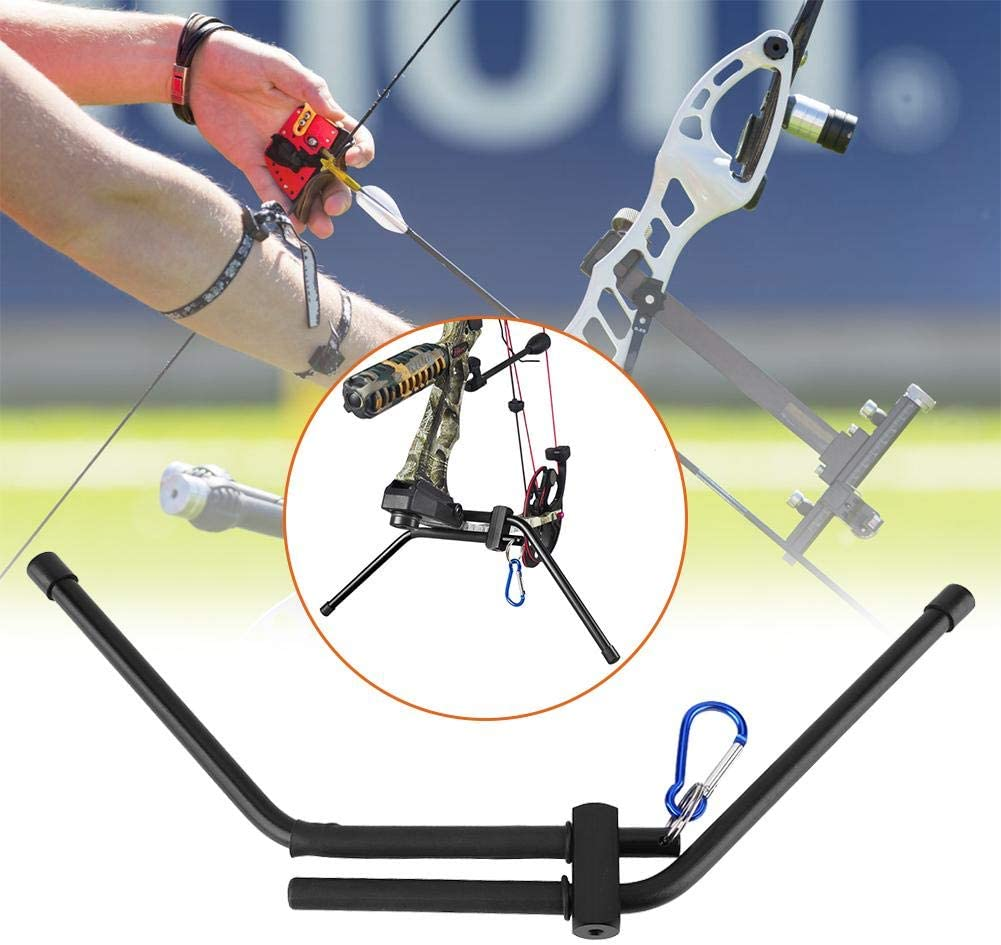 Tihebeyan Compound Bow Stand Holder Rack Portable Bow Stand Holder with Buckle Hook
