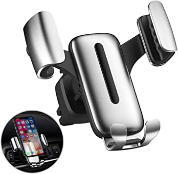 Soporte Móvil Coche, Universal Soporte Móvil Moto de Gravedad para Rejilla del Aire 360° Ajustable Soporte Teléfono Coche Automático Ventilación para iPhone, Samsung, Huawei, Xiaomi, GPS: Amazon.es: Electrónica