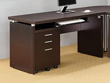 coaster home furnishings 800891 contemporary computer desk cappuccino amazoncom coaster shape home office