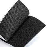 BRAVESHINE Strong Tape Double sided adhesive Sticky Hook Loop Mounting Removable Wall Fastener Tape - Black (12 Pcs: 6x6 cm)