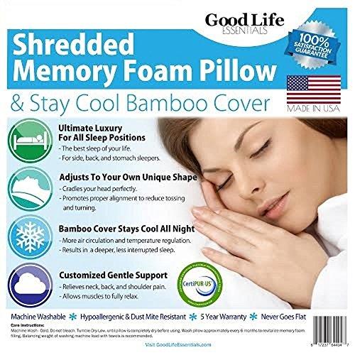 Good Life Essentials Shredded Memory Foam Hypoallergenic