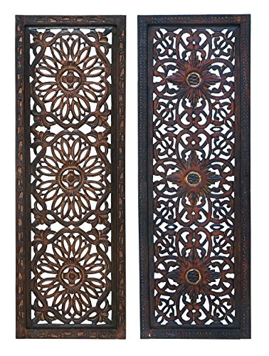 deco-79-34087-elegant-wall-sculpture-wood-wall-panel-assorted-36-12-inch-set-of-2