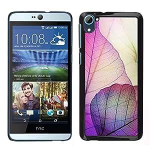 For HTC Desire D826 , S-type® Autumn Fall Purple Nature - Arte & diseño plástico duro Fundas Cover Cubre Hard Case Cover