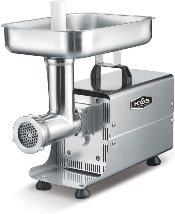 KWS SL-8 Commercial 450W 1/2HP Electric Meat Grinder Stainless Steel Meat Grinder