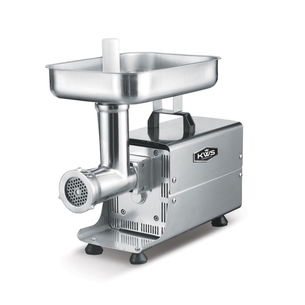 KWS SL-8 Commercial 450W 1/2HP Electric Meat Grinder Stainless Steel Meat Grinder by KitchenWare Station