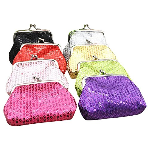 JD Million shop New Fashion Women Mini Sequin Wallet Card Holder Coin Purse Clutch Bag JUL4 drop shipping