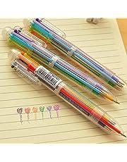 FOReverweihuajz 0,5 mm 6 Kleur in 1 Multi-Color Vette Inktbalpen, de Vlotte het Schrijven Leveringen van de Bureauschool