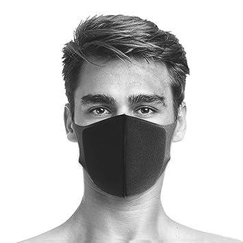 Máscara transpirable, PITTA, máscara para la boca con enganches para las orejas, antivirus, protección frente a contaminación, para esquí,…