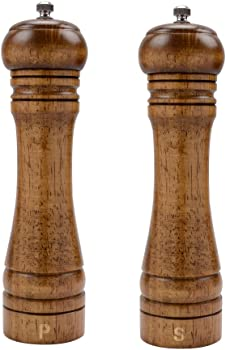 XQXQ Wood Salt and Pepper Mill Set – Pepper Grinders