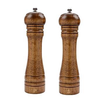 Xqxq Wood With Ceramic Core Salt Grinders
