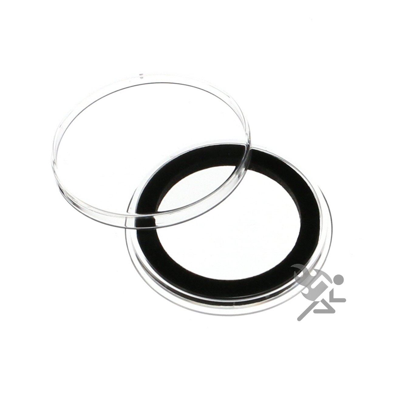 (10) Air-tite 31mm Black Ring Coin Holder Capsules for 1/2oz Silver Chinese Pandas