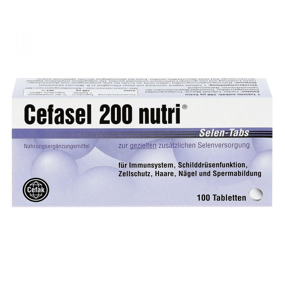cefasel 200 NUTRI Pastillas de selenio,100 unidades: Amazon ...