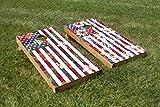2 Piece Aloha-merica Cornhole Board Decal Set