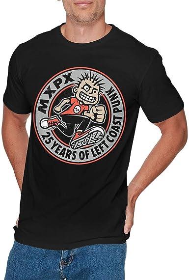 Camisa Deportiva de Manga Corta para Hombre, Mens Vintage MxPx T Shirts Black: Amazon.es: Ropa y accesorios