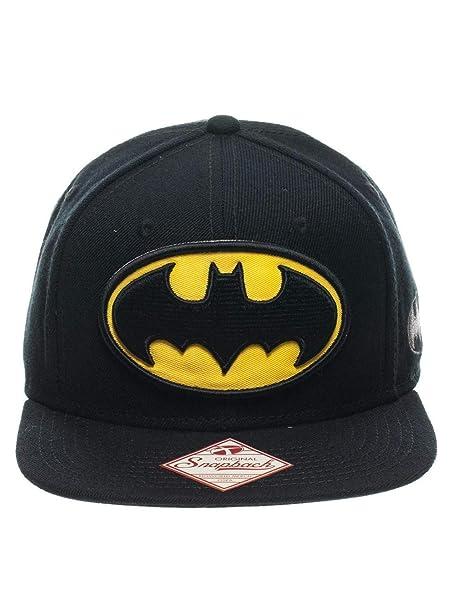 timeless design 484f5 4c6a3 Batman Logo Snap Back Hat Standard Black