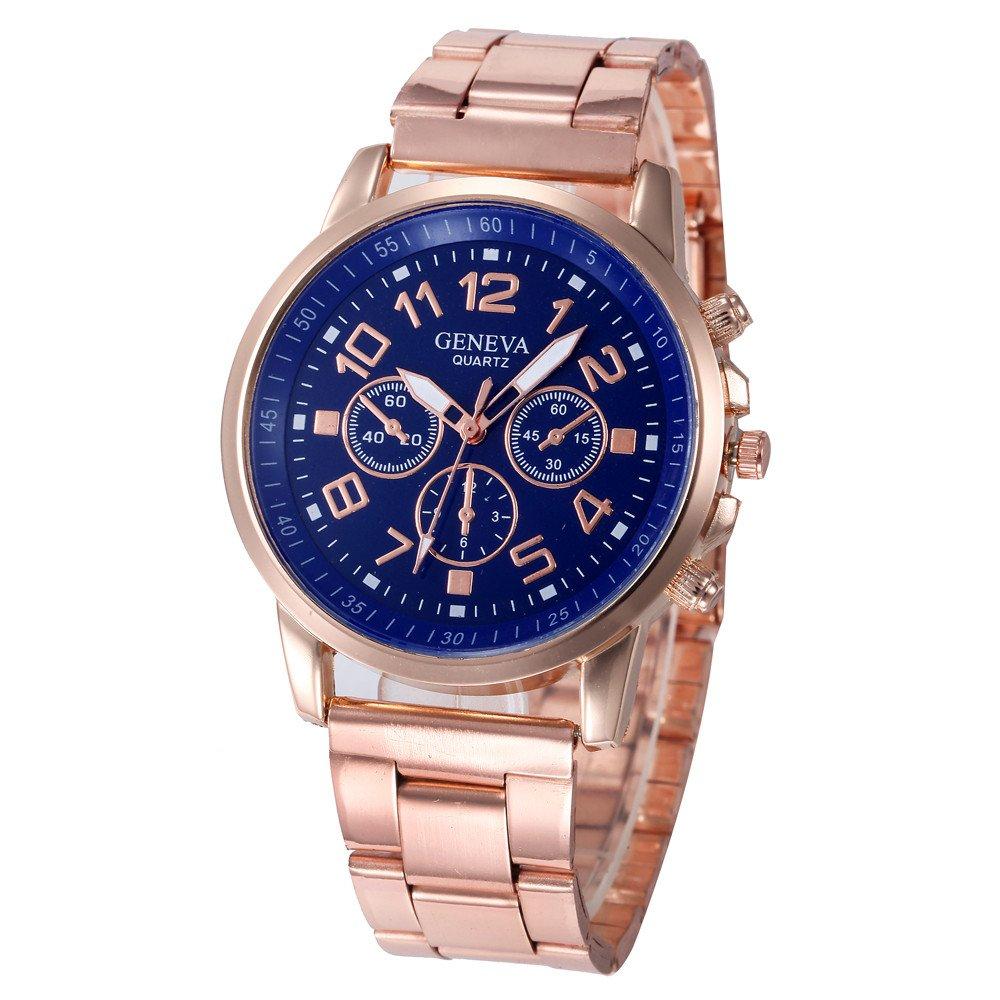 Reloj Pulsera Mujer Reloj Análogo De Cuarzo Deportivo De Acero Inoxidable, Hora De Cuarzo: Amazon.es: Relojes