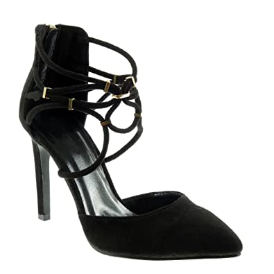Angkorly damen Schuhe Pumpe - Stiletto - String Tanga - golden Stiletto high heel 10.5 CM