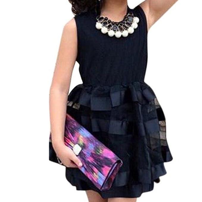 feiXIANG kleinkind Kleid kinder kleider Mädchen schwarze Mesh Tutu ...
