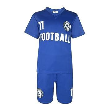 949f9800990 BOYS FOOTBALL KIT SHORT SET ROYAL BLUE 2-13 YEARS  CHL  Amazon.co.uk ...