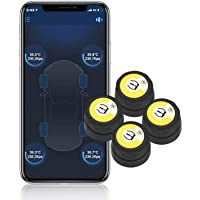 BARTUN Bluetooth Wireless Tire Pressure Monitoring System with 4 Extemal Sensors, Real-time Displays 4 Tires' Pressure…