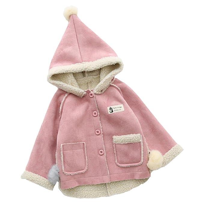 Bebé niña niño abrigo con capucha,Yannerr recien nacido gruesa caliente invierno trinchera Cazadora encapuchados chaqueta cardigan sudadera capa ...