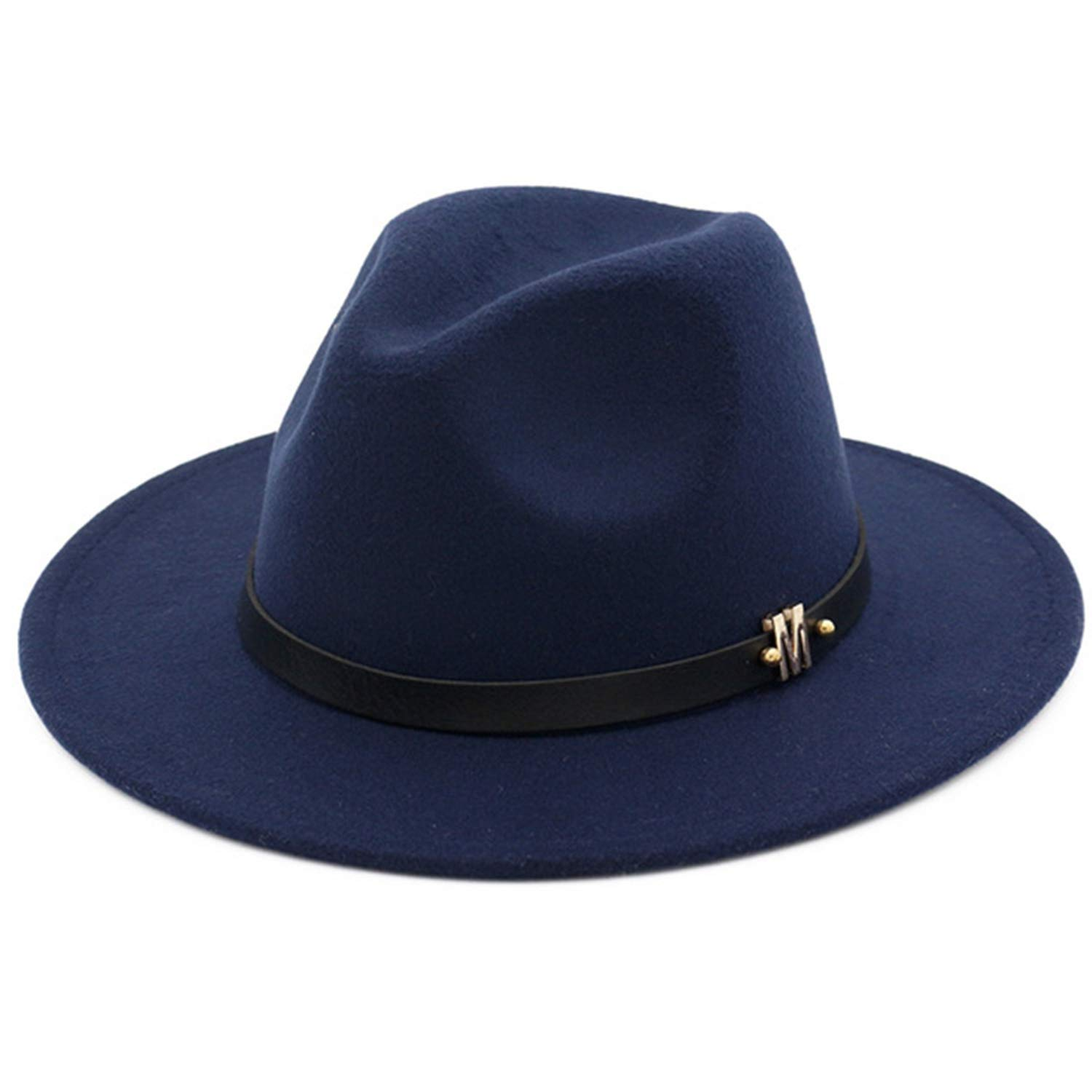 Fashion Solid Color Ladies Vintage WoolFedora Man Woman top hat Winter Wide Brimmed Felt hat