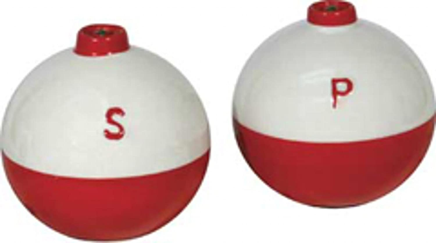 Rivers Edge 519 Ceramic Fishing Bobber Shaped Salt and Pepper Shakers Rivers Edge Products