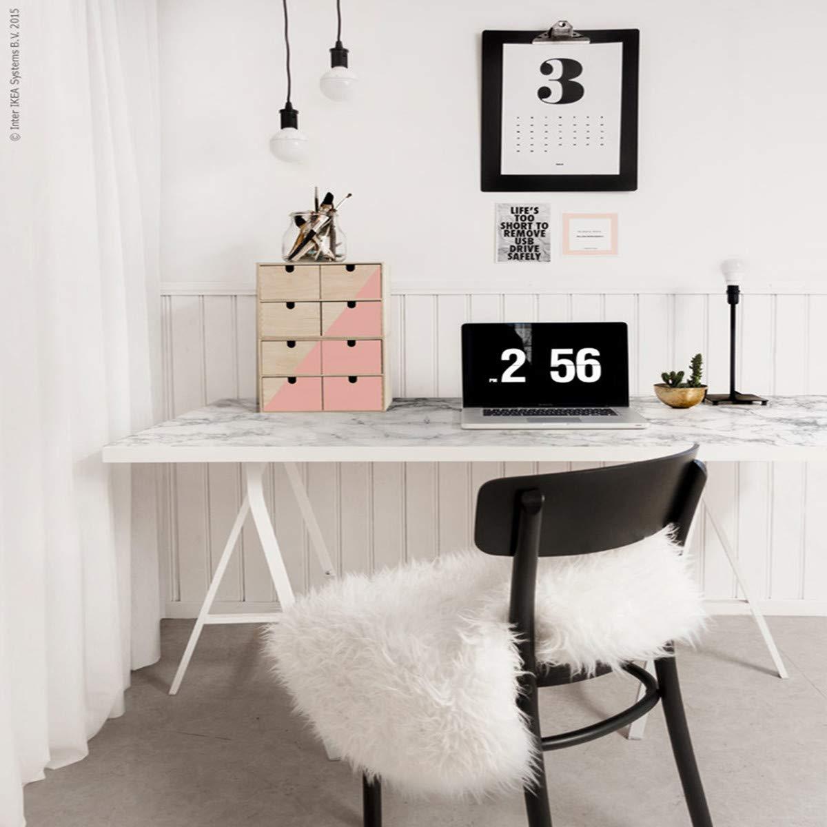 Papier peint de marbre adhesif Papier de contact gris//blanc Cuisine Autocollants Salle de Bain /Étanche Meubles Comptoir Mur Table Peel Stick Vinyle Film PVC Durable 45cm 2m