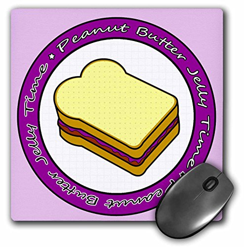 Price comparison product image 3dRose LLC 8 x 8 x 0.25 Inches Mouse Pad, Peanut Butter Jelly Time - Grape Jelly (mp_77602_1)