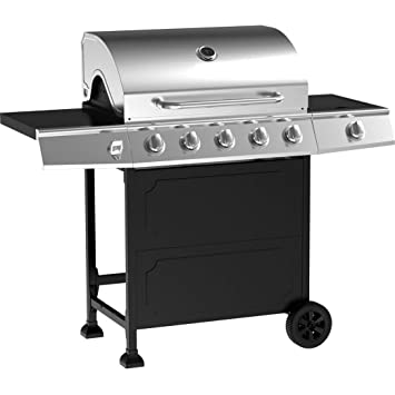 Amazon.com: Barbacoa de gas parrilla acero inoxidable 5 ...