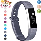 JOMOQ Compatible Fitbit Ace Bands Kids, Soft Silicone Sport Wrist Strap Waterproof Replacement Secure Metal Buckle Fitbit Ace/Alta HR Activity Tracker Boy Girl