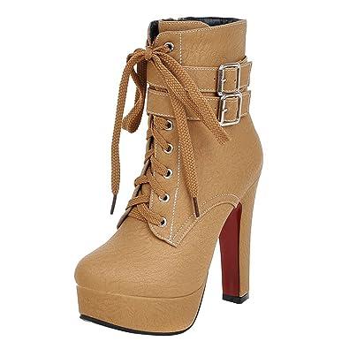 Damen High Heels Herbst und Winter Mode elegante kurze Stiefel