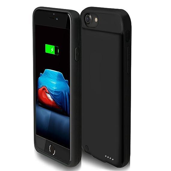3000 mAh rechargeable case for iPhone 7/8 Ding Ding iPhone 7 batería caso con capacidad de 3000 mAh iPhone funda de batería externa de 8 (negro, ...