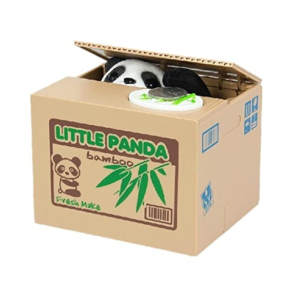 XLKJ Panda Spardose,Elektronische Spardose Piggy Bank Geschenk für Kinder