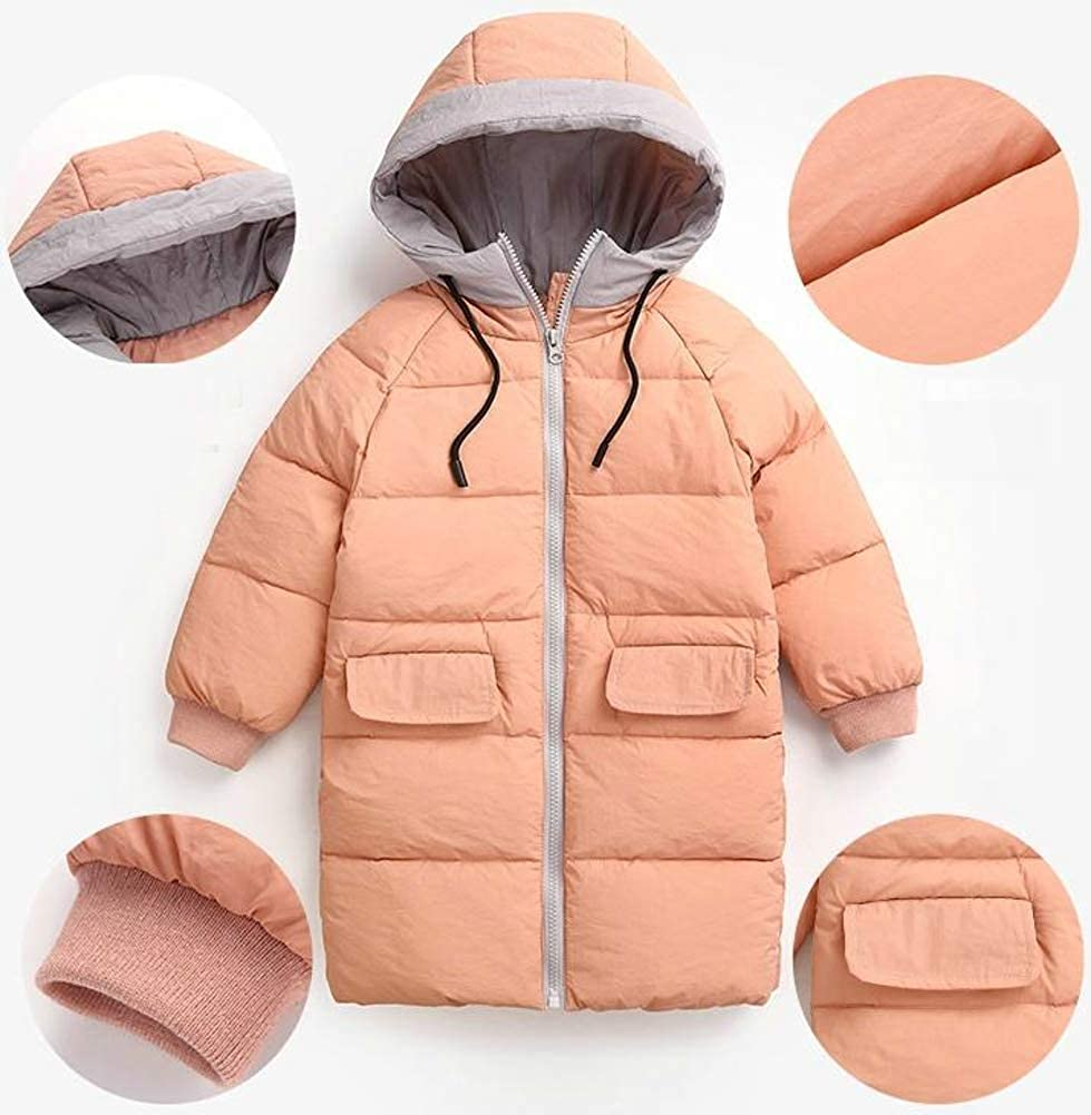 TuGui Baby Boys Girls Hoodies Winter Lightweight Mid-Length Down Jacket Packable Coats