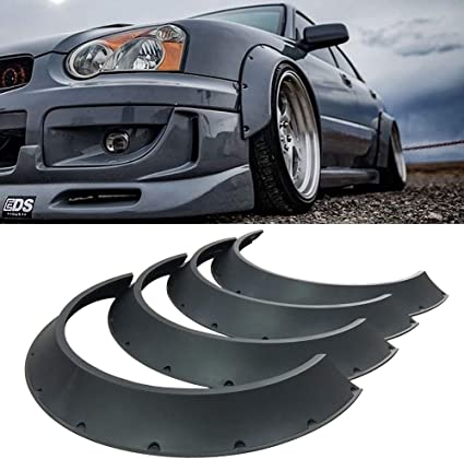 "1 Pair Glossy Silver 1/"" Diffuser Wide Fender Flares Extension For Honda Acura"