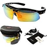 Innoo Techサングラス スポーツサングラス 偏光サングラス 専用交換レンズ5枚 紫外線カット 男女兼用