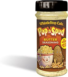 Original WhistleStop Cafe Recipes | Pop'n'Spud Butter Seasoning | 7-oz | 1 Shaker