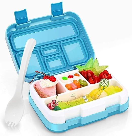 Mayyou Caja de almuerzo para niños, Bento Box con compartimentos ...