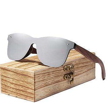 KJWELUQ Gafas de Sol para Hombre Gafas de Sol de Madera de ...