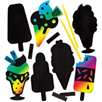 Ice Cream Scratch Art Magnets (Pack of 10)