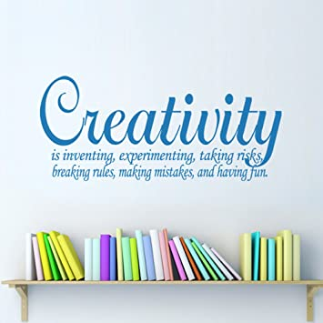 Amazon Com Mairgwall Creativity Vinyl Wall Decal Definition Quote