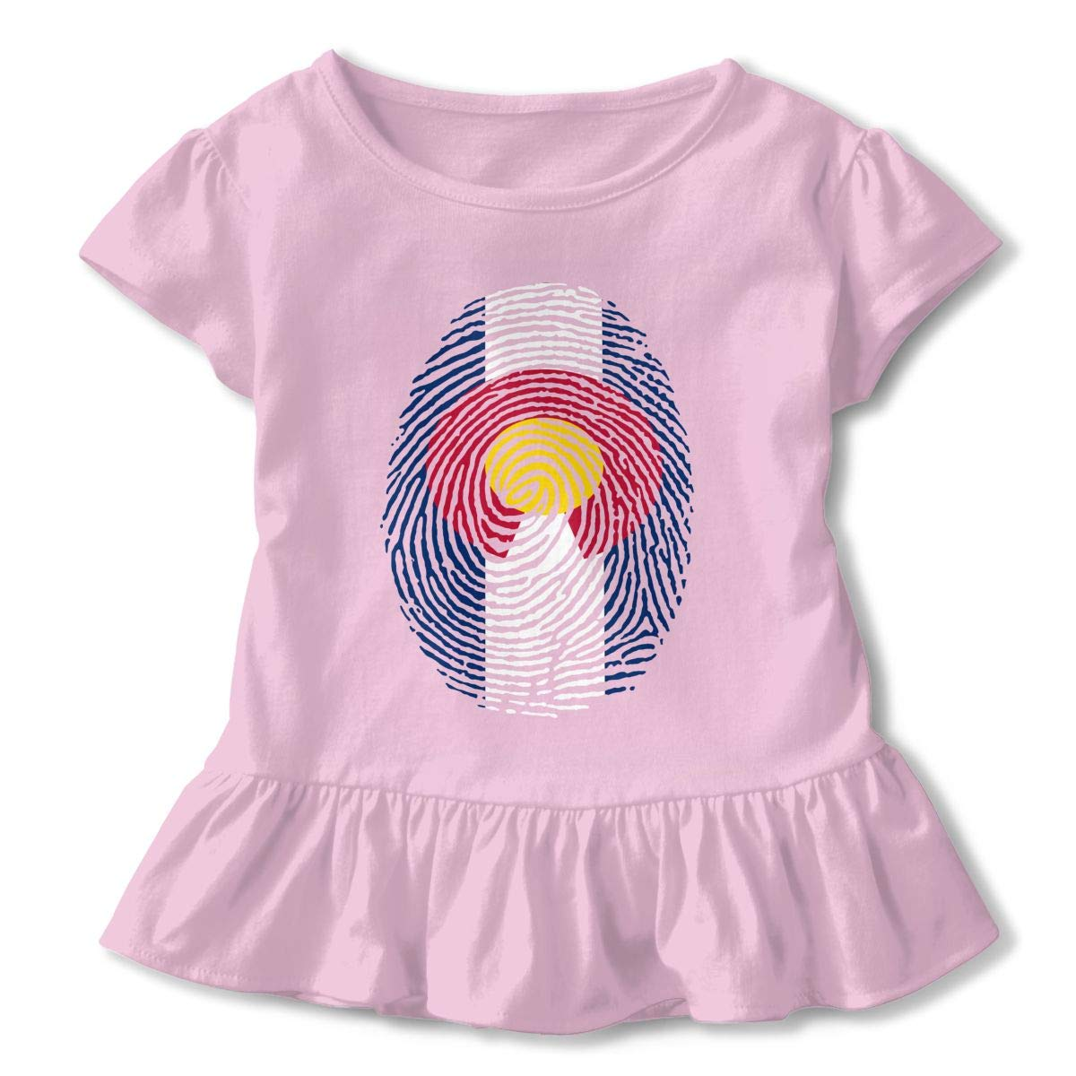 UAJAR Colorado Flag DNA Finger Baby Girls Short Sleeve Flounce Dress Comfortable Skirts T-Shirt